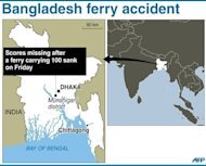 Graphic locating the district of Munshiganji. Two people have been confirmed dead and scores more are still missing after a boat carrying around 100 passengers sank following a collision on a river in Bangladesh, the latest in a series of disasters blamed on lax safety standards