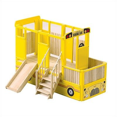 Guidecraft School Bus Play Loft