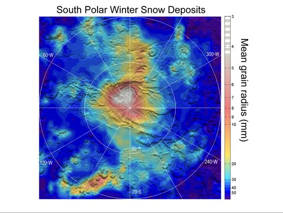 Snow on Mars: NASA Spacecraft Spots 'Dry Ice' Snowflakes