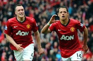 Chicharito fighting for starting spot at Manchester United