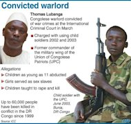 &lt;p&gt;Fact file on Congolese warlord Thomas Lubanga who will be the first person to be sentenced by the International Criminal Court Tuesday, after his conviction in March for using child soldiers in a conflict.&lt;/p&gt;