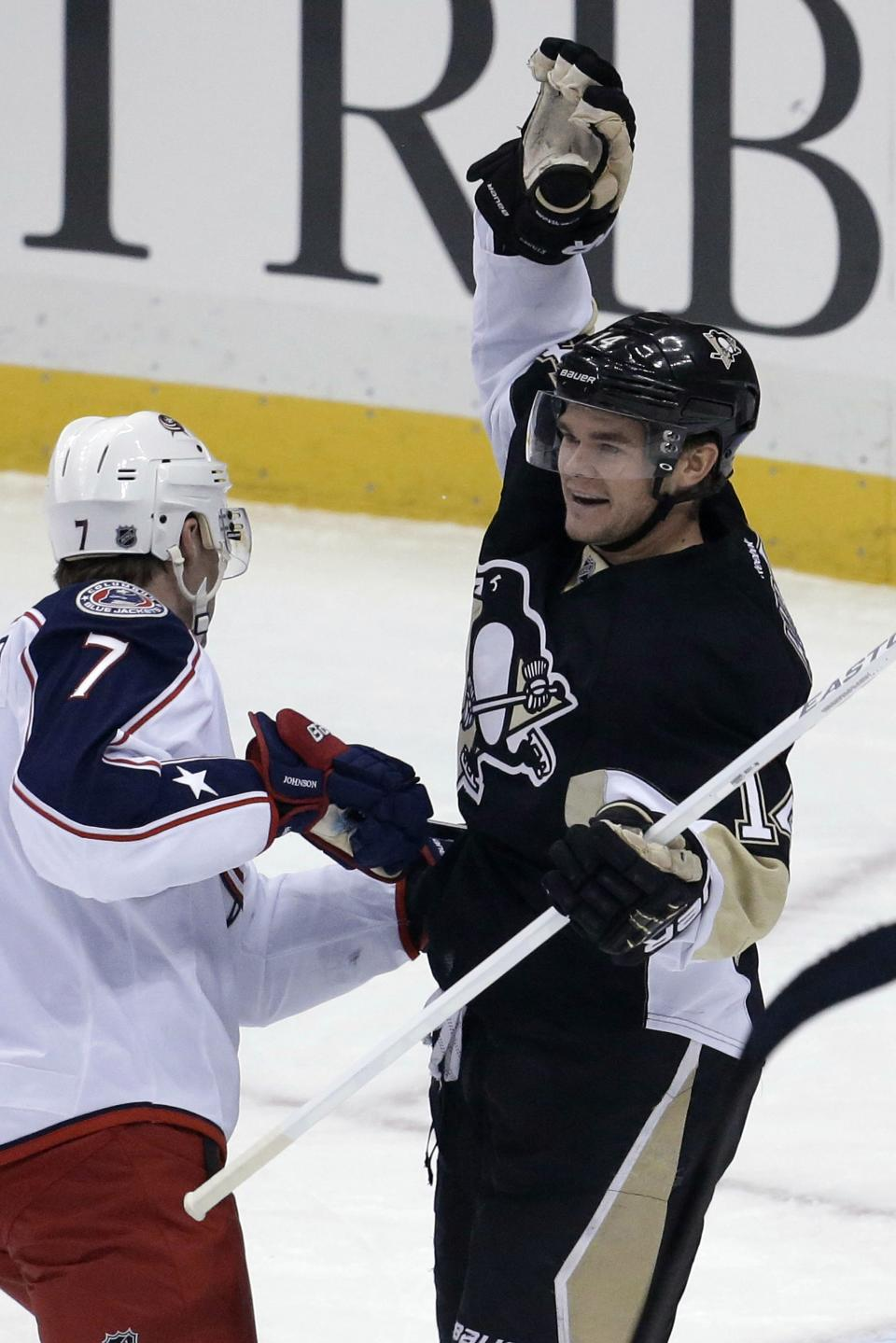 Penguins romp by Blue Jackets 4-2