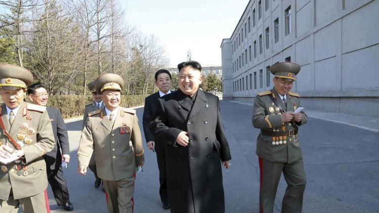 North Korean leader Kim Jong Un visits the Kim Il Sung University of Politics