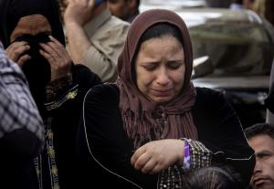 Egyptian women mourn after a judge sentenced to death …