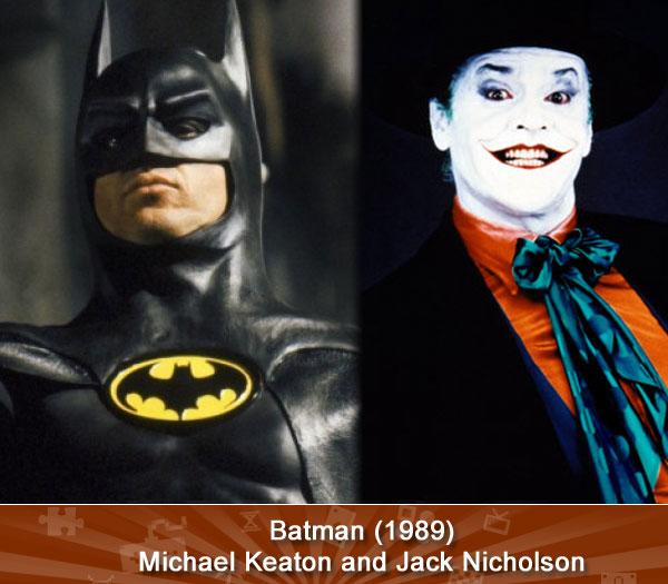 Batman (1989) -- Michael Keaton and Jack Nicholson