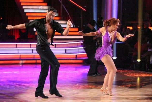 Maksim Chmerkovskiy and Melissa Gilbert perform during Week 3 of &#39;Dancing with the Stars,&#39; April 2, 2012 -- ABC