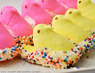Peeps in White Chocolate Nests