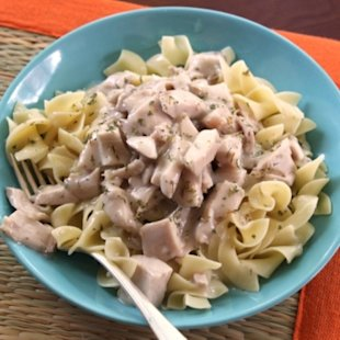 Creamy Chicken Noodles in celebration of Glover's victory! 