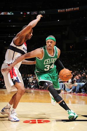 Pierce's late 3 lifts Celtics over Wizards 89-86
