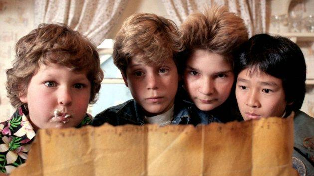 Sean Astin, Corey Feldman, Jeff Cohen and Jonathan Ke Quan in 'The Goonies' in 1985 -- Warner Bros.