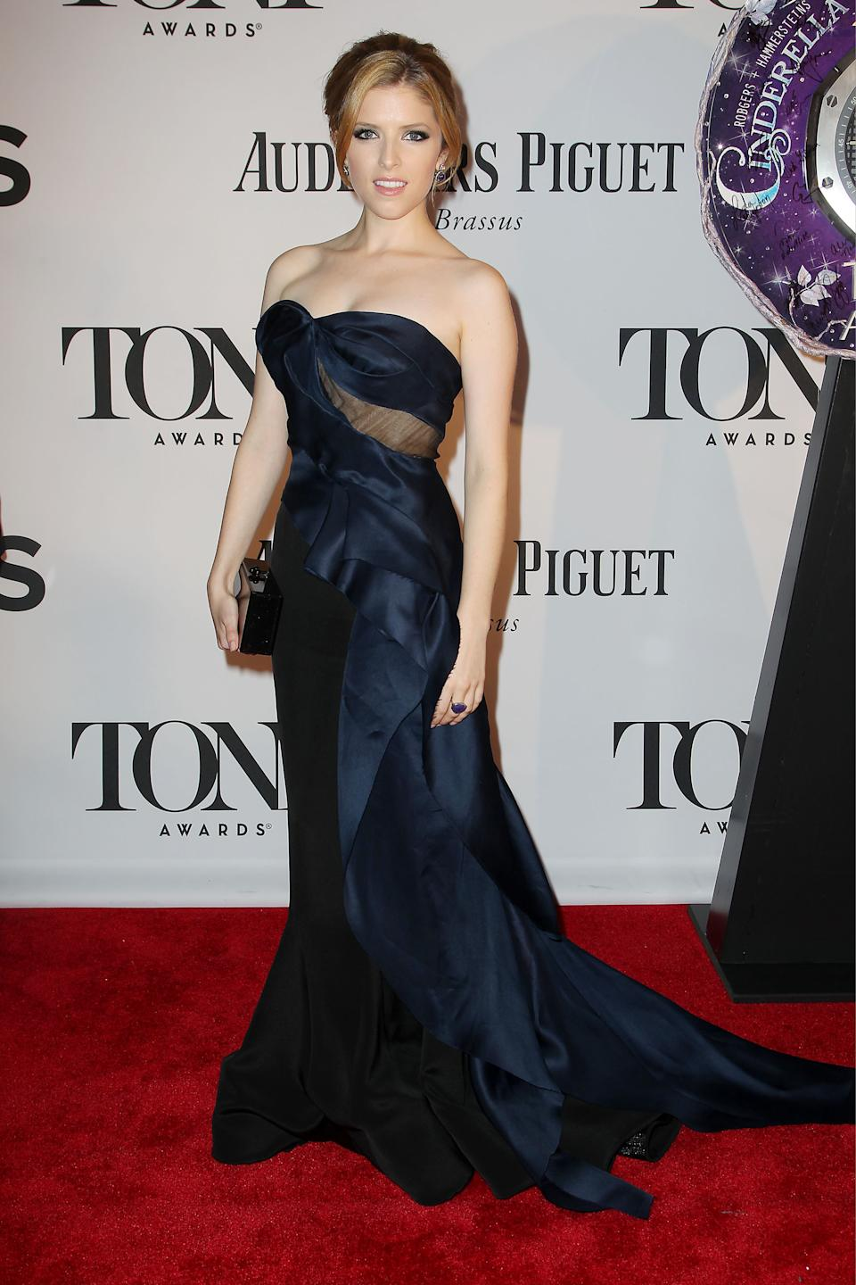 This image released by Starpix shows Anna Kendrick at the 67th Annual Tony Awards in New York on Sunday, June 9, 2013. (AP Photo/Starpix, Amanda Schwab)