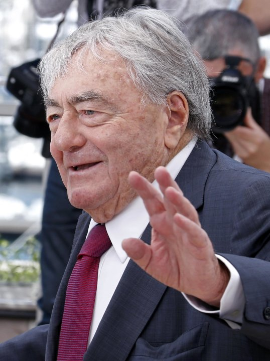 Filmmaker and producer Claude Lanzmann poses during a photocall for the film 'Le Dernier des Injustes' at the 66th Cannes Film Festival in Cannes