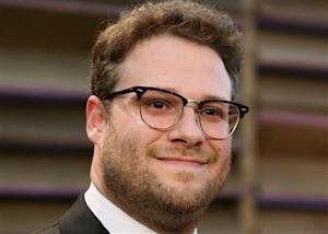Actor Seth Rogen arrives at the 2014 Vanity Fair Oscars Party in West Hollywood