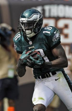 Vick rallies Eagles past Browns 17-16