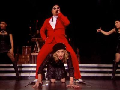 Madonna goes 'Gangnam Style' with PSY