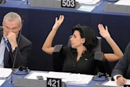 "<p>French MEP Rachida Dati (right) said Tuesday she was shocked there were no women put forward for the European Central Bank's executive board called on MEPs to ""refuse any hearing, block any nomination so as to protest against this backward step.""</p>"