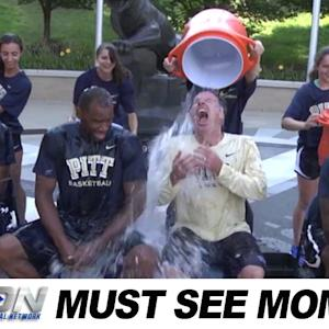 Pitt Basketball Joins the ALS Ice Bucket Challenge | Must See Moment