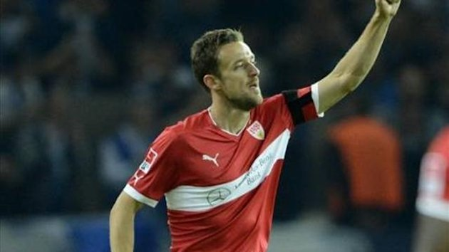Christian Gentner celebrates his goal against Hertha Berlin (Imago)