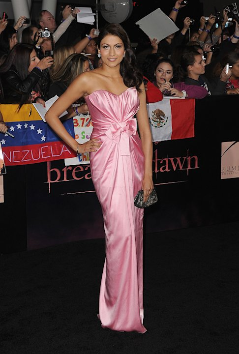 The Twilight Saga Breaking Dawn Part 1 2011 LA Premiere Tinsel Korey