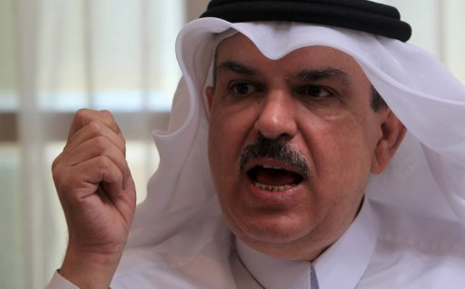 Qatari Ambassador to the Palestinian territories Mohammed al-Amadi at his office in Gaza City. Amadi told AFP that Egyptian President Mohamed Morsi assured him that there shouldn't be any difficulties for bringing construction materials and equipments into Gaza for a reconstruction project