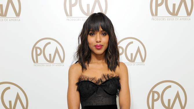 Actress Kerry Washington poses backstage at the 24th Annual Producers Guild (PGA) Awards at the Beverly Hilton Hotel on Saturday Jan. 26, 2013, in Beverly Hills, Calif. (Photo by Jordan Strauss/Invision for Producers Guild/AP Images)