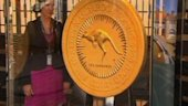 Raw Video: World's largest gold coin