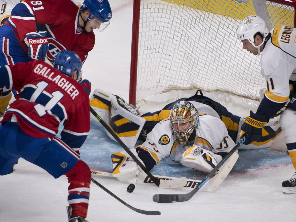 Jones' late goal lifts Preds over Canadiens 2-1