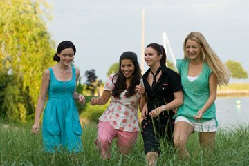 Alexis Bledel , America Ferrera , Amber Tamblyn and Blake Lively in Warner Bros. Pictures' The Sisterhood of the Traveling Pants 2