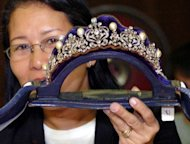 A tiara inlaid with diamonds and South Sea pearls from a collection seized by the government from former first lady Imelda Marcos. The Philippines said it plans to put on public display the fabulous jewels seized 26 years ago from the former first lady, to help draw more tourists