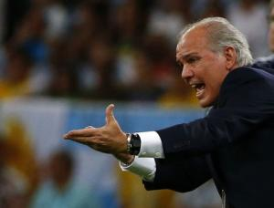 Argentina's coach Alejandro Sabella gestures during the 2014 World Cup Group F soccer match against Bosnia and Herzegovina at the Maracana stadium in Rio de Janeiro