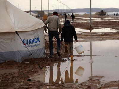 Misery at Refugee Camp in Jordan As Winter Looms