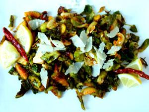 Crispy Roasted Brussels Sprouts with Lemon Pecorino and Chili