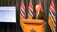 B.C. Finance Minister Mike de Jong says the province's balanced budget is on a razor's edge with no room for new spending.