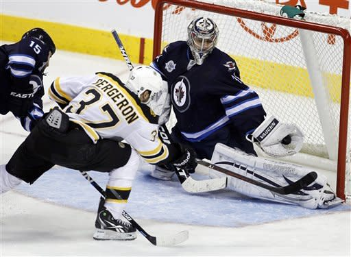 Little lifts Jets past Bruins, 4-2