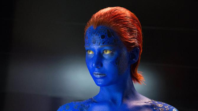 """This photo released by Twentieth Century Fox shows Jennifer Lawrence as Mystique in Twentieth Century Fox and Marvel's """"X-Men: Days of Future Past."""" (AP Photo/Twentieth Century Fox/Marvel, Alan Markfield)"""
