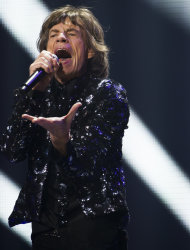 Mick Jagger of The Rolling Stones performs in concert on Saturday, Dec. 8, 2012 in New York. (Photo by Charles Sykes/Invision/AP)