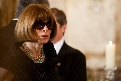 Anna Wintour, rédactrice en chef de l'édition américaine de Vogue le 14 mars 2012 à Washington