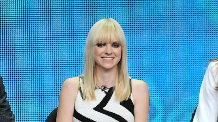 "Anna Faris participates in the ""Mom"" panel at the CBS Summer TCA on Monday, July 29, 2013, at the Beverly Hilton hotel in Beverly Hills, Calif. (Photo by Chris Pizzello/Invision/AP)"