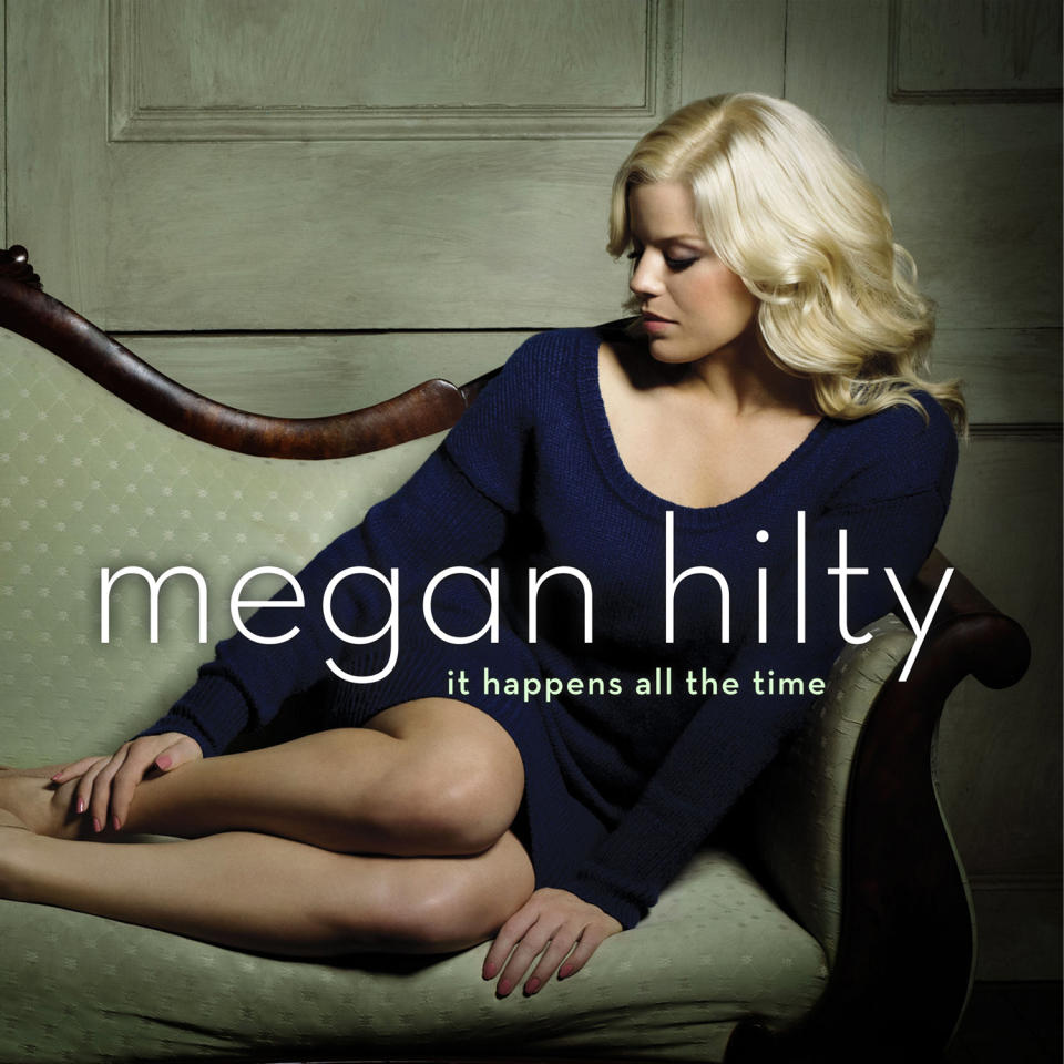 "This publicity photo provided by Sony Masterworks shows the cover for Megan Hilty's debut album, ""It Happens All the Time."" The album released on March 12, 2013. (AP Photo/Sony Masterworks)"