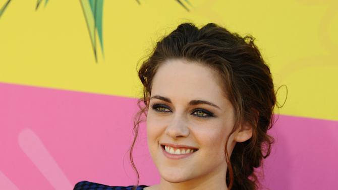 Actress Kristen Stewart arrives at the 26th annual Nickelodeon's Kids' Choice Awards on Saturday, March 23, 2013, in Los Angeles. (Photo by Jordan Strauss/Invision/AP)