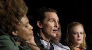 From left, actors Macy Gray, Matthew McConaughey, director Lee Daniels and actress Nicole Kidman attend a press conference for The Paperboy at the 65th international film festival, in Cannes, southern France, Thursday, May 24, 2012. (AP Photo/Virginia Mayo)