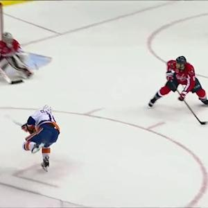 Clutterbuck snipes accurate shot past Grubauer