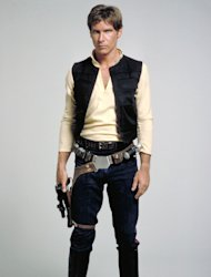 Harrison Ford as Han Solo.