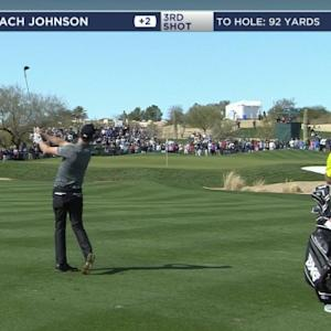 Zach Johnson hits approach to 3 feet on No. 3 at Waste Management