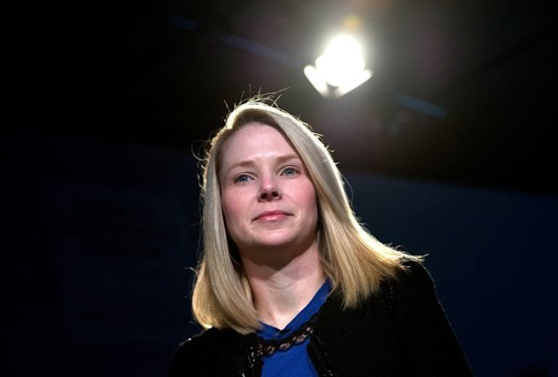 Yahoo! chief executive Marissa Mayer attends a session of the World Economic Forum in Davos on January 25, 2013