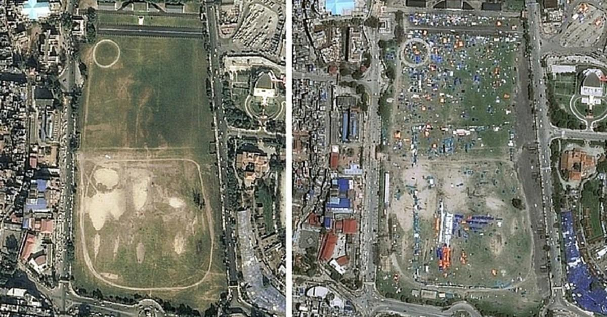 15 Before And After Images Of Nepal's Earthquake