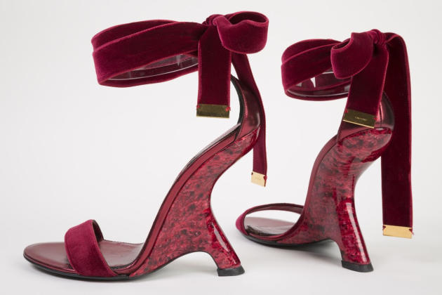 "This undated photo provided by the Fashion Institute of Technology shows a pair of shoes designed by Tom Ford in 2012. The shoes are displayed at the ""Shoe Obsession"" exhibit at The Museum at the Fash"