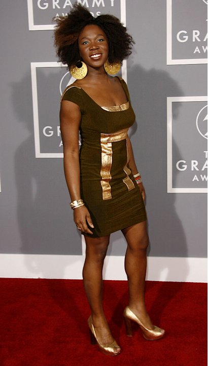 India.Arie at The 49th Annual Grammy Awards.