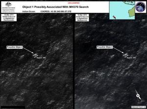 Satellite imagery provided to AMSA of objects that…