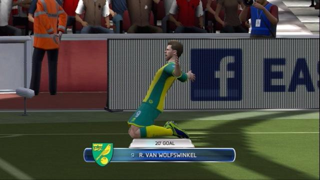 FIFA 14 - Arsenal concede to Norwich - Gameplay
